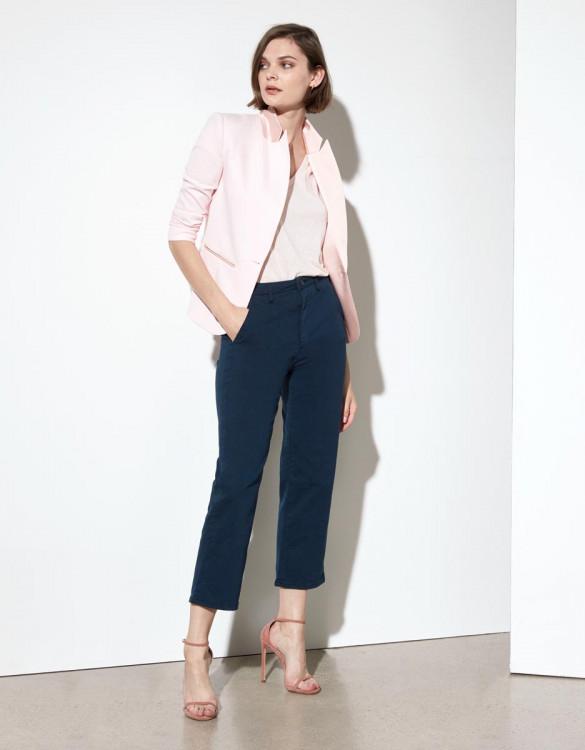 Chino trousers Sandy Highwaist Cropped - DARK NAVY