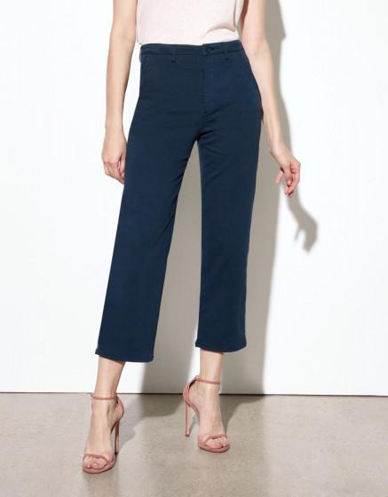 Pantalon chino Sandy highwaist Cropped - DARK NAVY