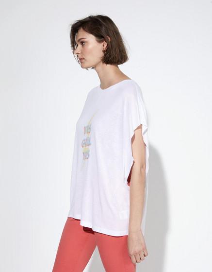 Tee-shirt Taly - WHITE CHINE