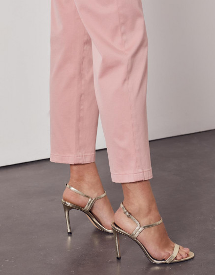 Chino high waist cropped trousers Sandy High Waist - WILD ROSE