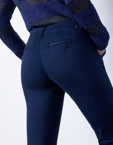Chino trousers Sandy 2 Basic - DARK NAVY