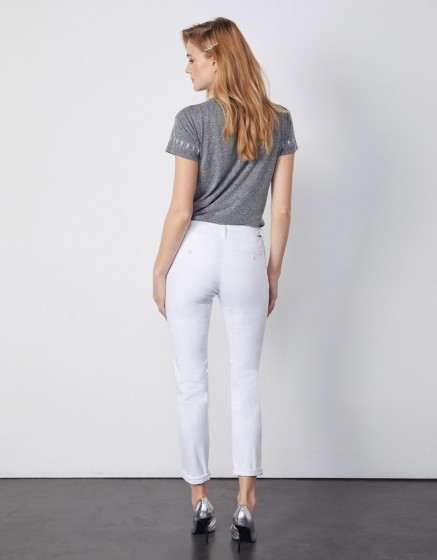 Chino trousers Sandy 2 Basic - WHITE