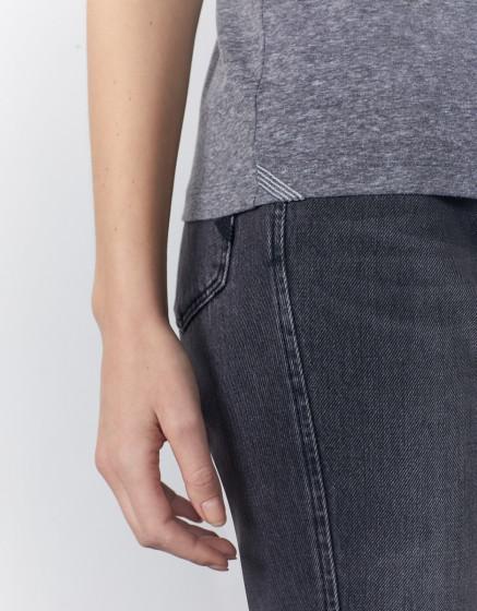 Cigarette trousers Liv Fancy Ribbon - CARBONE