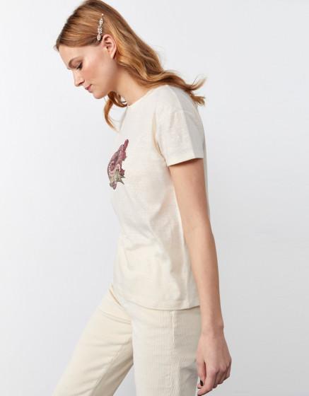T-shirt THOM - BUTTERCREAM