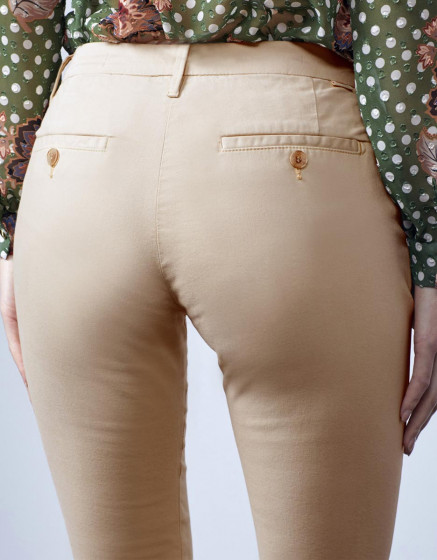Pantalon chino Sandy 2 Basic - BEIGE