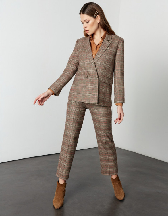 Blazer Barbara - CAMEL CHECKS