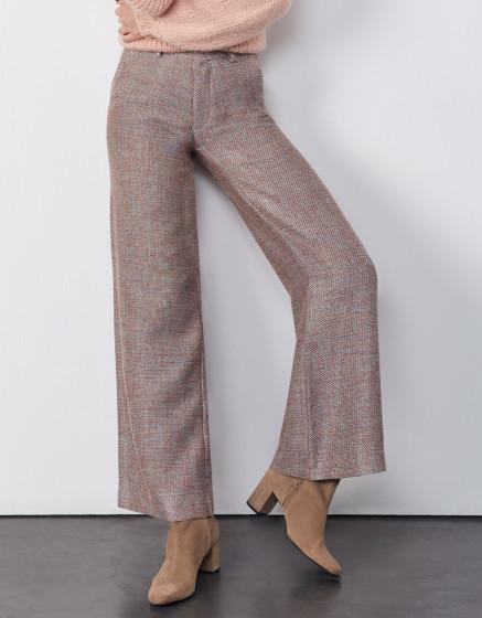 Pantalon wide Pamelo Fancy - PINK TWEEDY