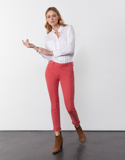 Chino trousers Sandy 2 Basic - HOLLY BERRY