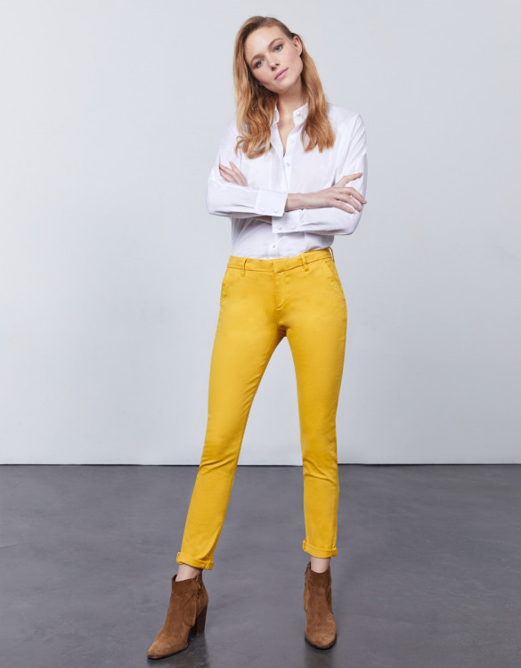 Chino trousers Sandy 2 Basic - LIMONCELLO
