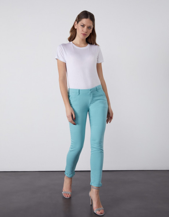 Chino trousers Sandy 2 Basic - MISTY BLUE