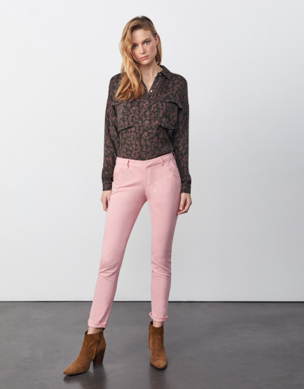 Chino trousers Sandy 2 Basic - WILD ROSE