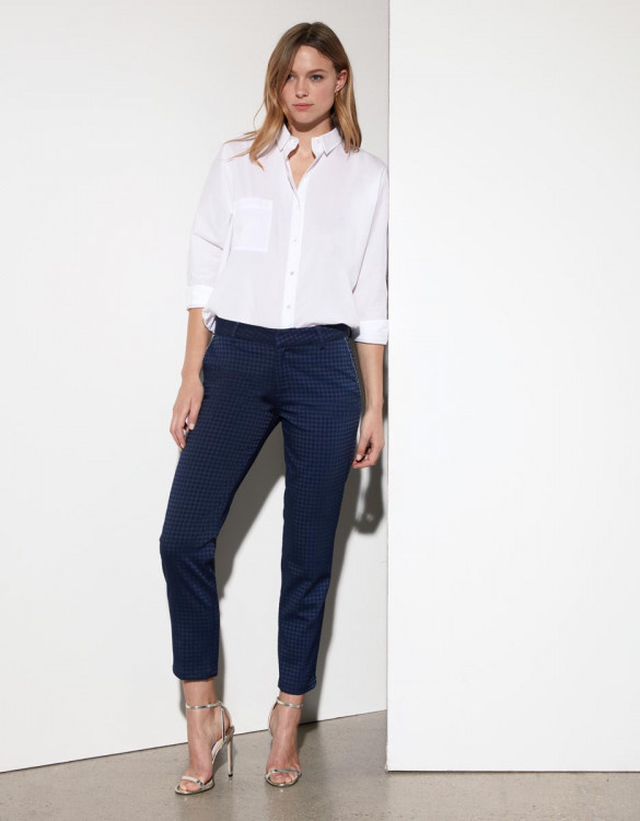 Loose cigarette trousers Pura - DARK NAVY