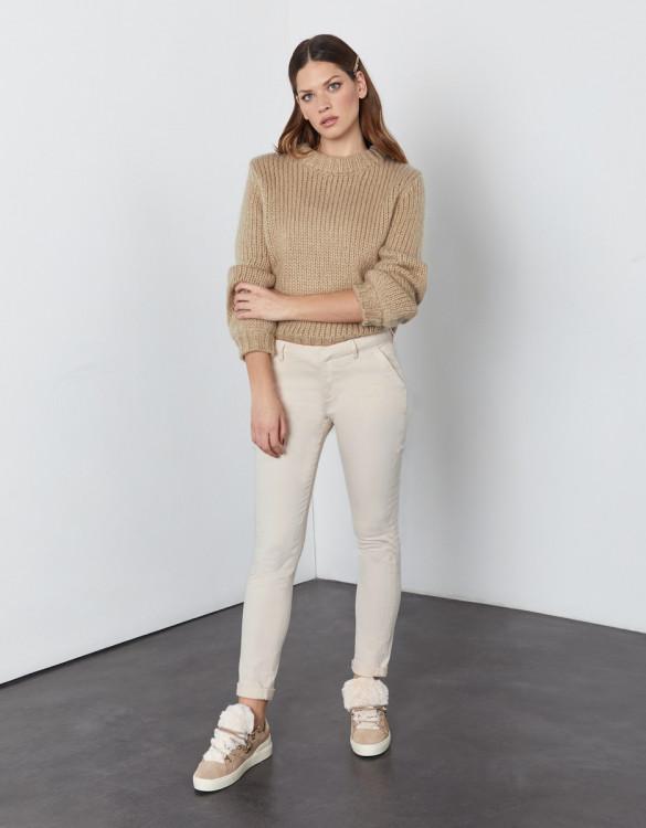 Chino trousers Sandy 2 Basic - BUTTERCREAM