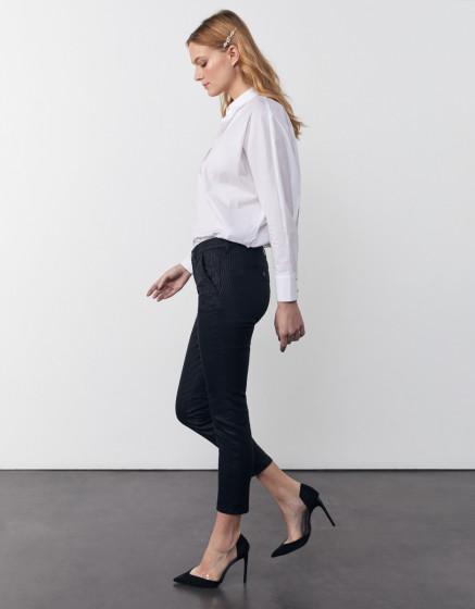 Pantalon chino Sandy Cropped Printed - BLACK STRIPED