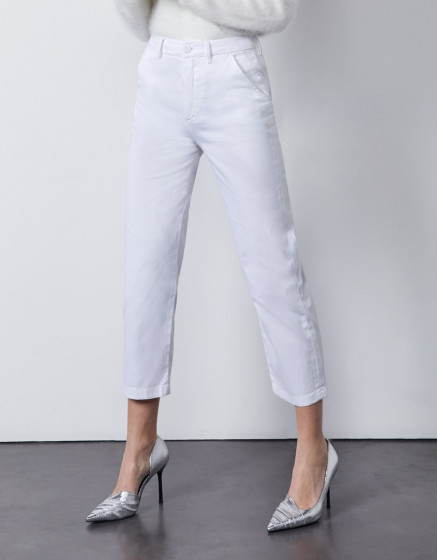 Chino Sandy High Waist - WHITE