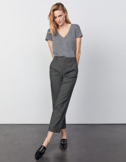 Pantalon cigarette straight cropped Lary - BLACK DAISY