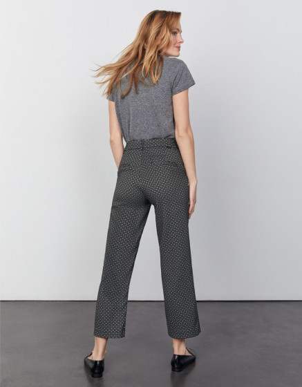 Pantalon cigarette straight cropped Lary Fancy - BLACK DAISY