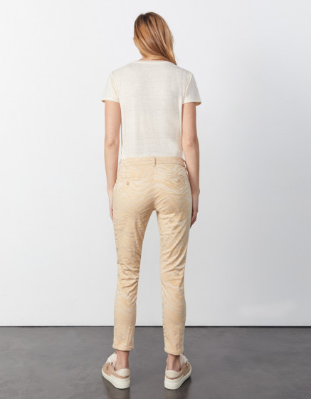 Pantalon chino cropped printed Sandy Cropped Printed - SAND ZEBRA