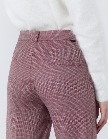 Pantalon cigarette straight cropped Lary Fancy - BURGUNDY TWIST