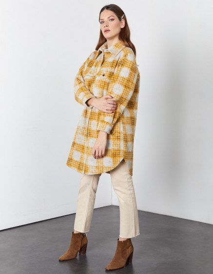 Manteau Mana - MUSTARD PLAID