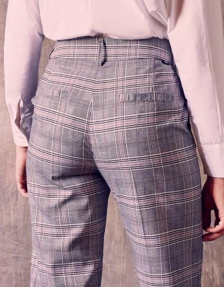Pantalon cigarette Liv Straight - SPARKLE CHECKS