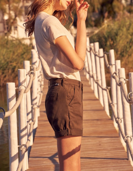 Short Selena - DARK KAKI