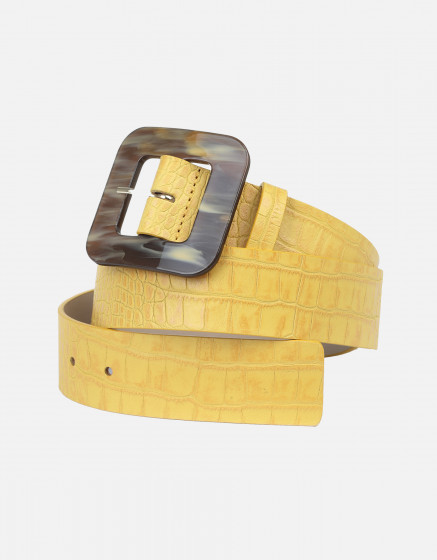 Belt Alexie - YELLOW CROCO