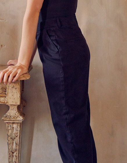 Chino high waist Ambre - BLACK