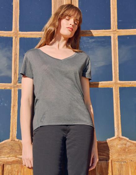T-shirt Taco Linen - CASTLE ROCK