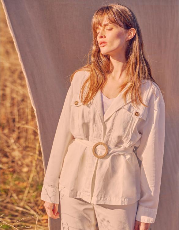 Veste Saharienne Judie - OFF WHITE