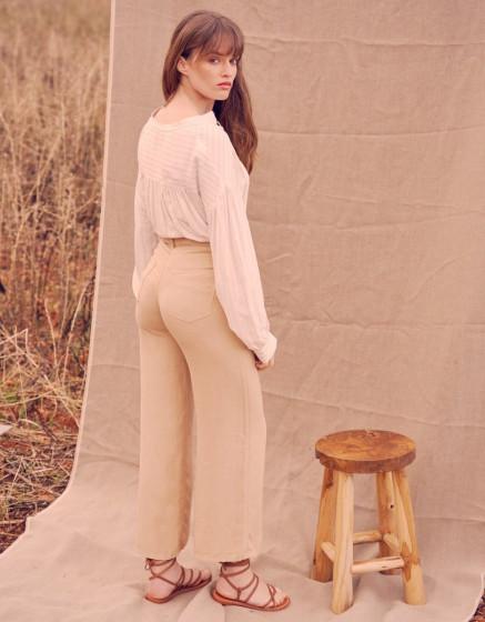 Pantalon wide Ellie Linen - LIGHT SAND