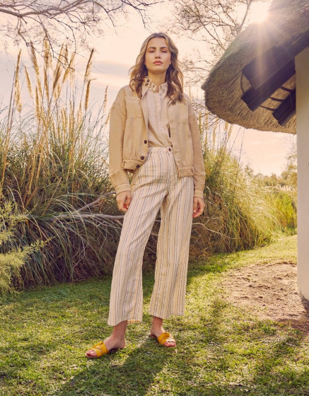 Wide trousers Ellie Fancy - CRAFTED STRIPED