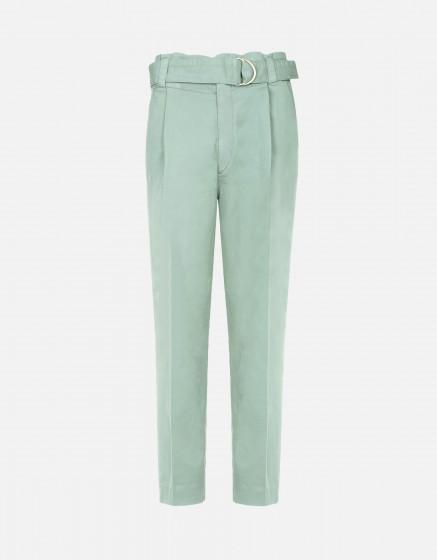 Pantalon cigarette taille haute Ava Color - BASIL
