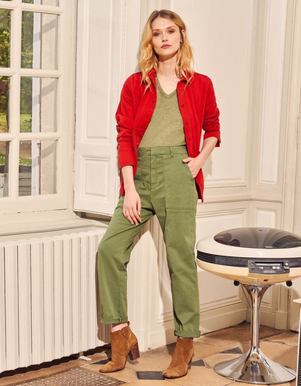 Cargo trousers Aimy - MILITARY OLIVE