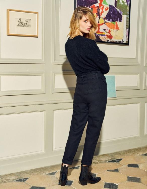 Cigarette high waist jeans Ava - DNM BLACK
