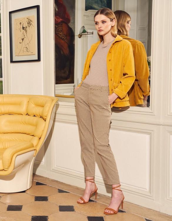 Cigarette trousers Liv Fancy - MUSTARD STARRY