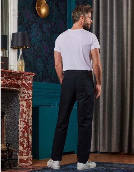 Chino straight cropped Romain - BLACK
