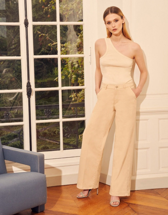 Wide trousers Pilly - LIGHT SAND