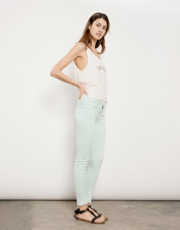 Cropped skinny trousers Lily - BLEU PASTEL