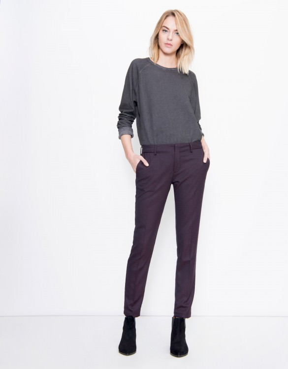 Pantalon cigarette Lizzy Fancy - SQUARE CARMIN