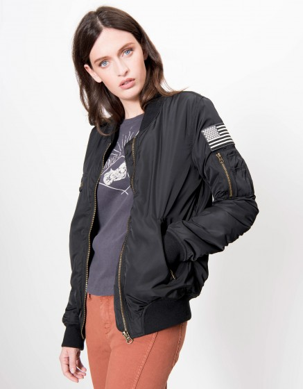 Bombers jacket Brandy - BLACK