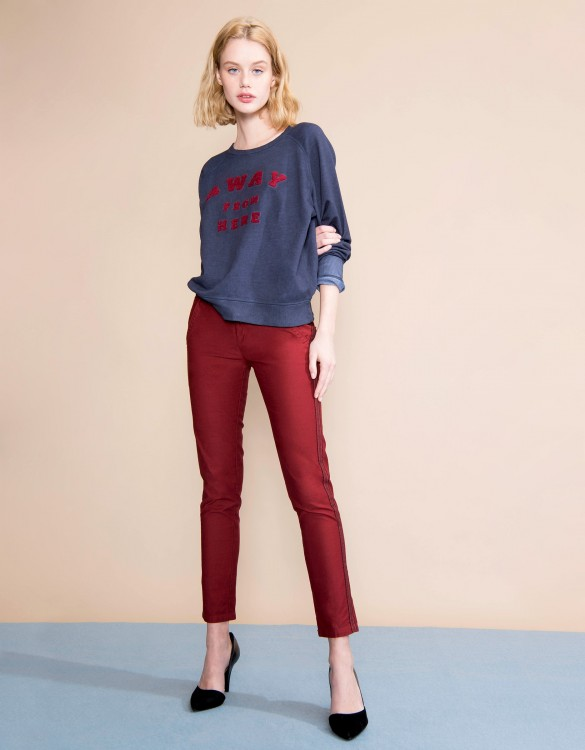 Pantalon chino Sandy Herring - CARMIN