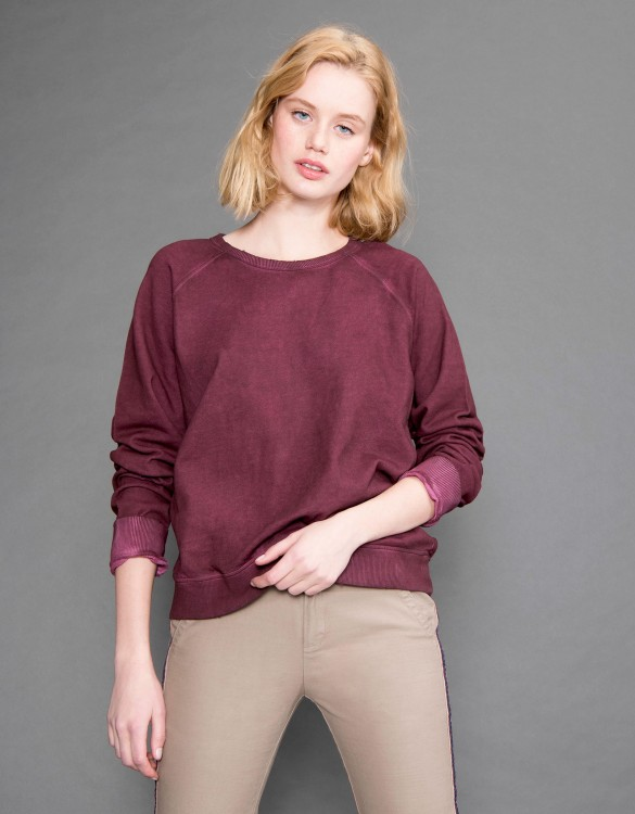 Sweat Pearly - BORDEAUX FONCE